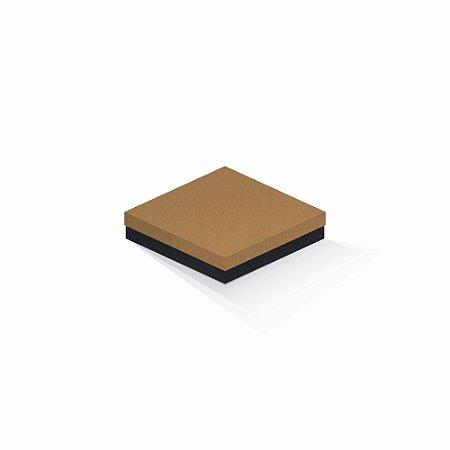Caixa de presente | Quadrada F Card Ocre-Preto 15,5x15,5x4,0