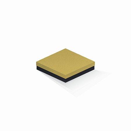 Caixa de presente   Quadrada F Card Ouro-Preto 15,5x15,5x4,0