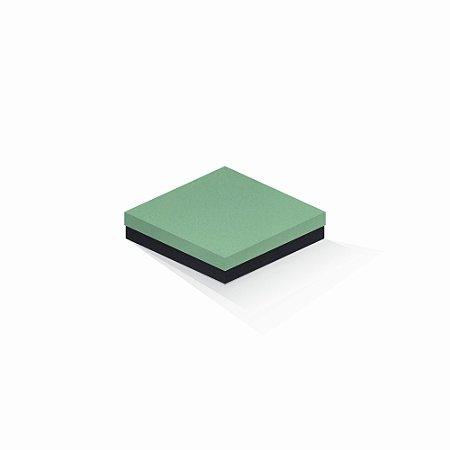Caixa de presente   Quadrada F Card Verde-Preto 15,5x15,5x4,0