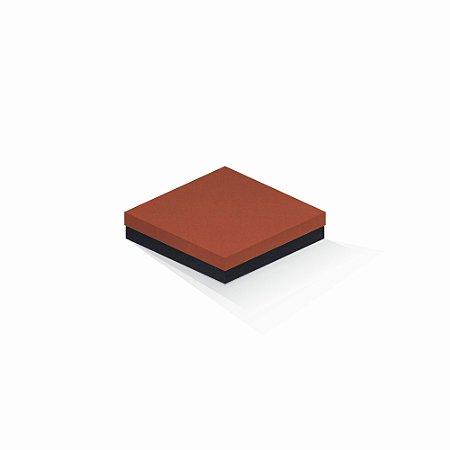 Caixa de presente   Quadrada F Card Scuro Laranja-Preto 15,5x15,5x4,0