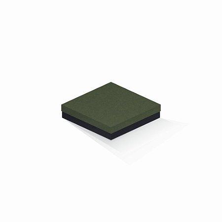 Caixa de presente | Quadrada F Card Scuro Verde-Preto 15,5x15,5x4,0