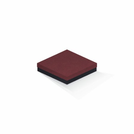 Caixa de presente | Quadrada F Card Scuro Vermelho-Preto 15,5x15,5x4,0