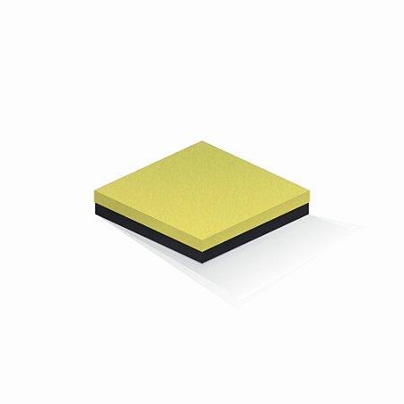 Caixa de presente | Quadrada F Card Canário-Preto 18,5x18,5x4,0