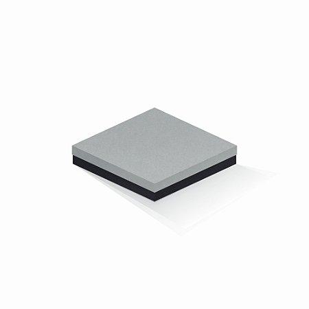Caixa de presente | Quadrada F Card Cinza-Preto 18,5x18,5x4,0