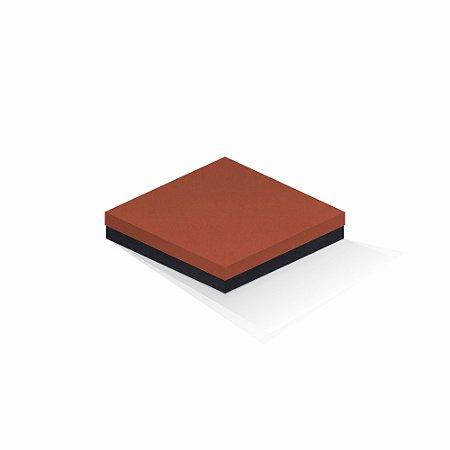 Caixa de presente | Quadrada F Card Scuro Laranja-Preto 18,5x18,5x4,0
