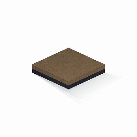 Caixa de presente   Quadrada F Card Scuro Marrom-Preto 18,5x18,5x4,0