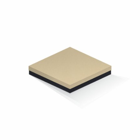 Caixa de presente | Quadrada F Card Areia-Preto 20,5x20,5x4,0