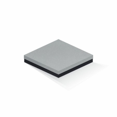 Caixa de presente | Quadrada F Card Cinza-Preto 20,5x20,5x4,0