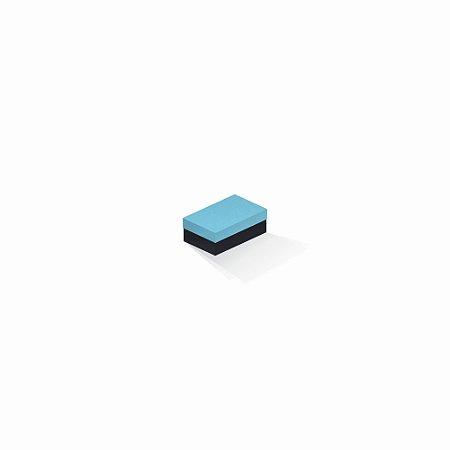Caixa de presente | Retângulo F Card Azul-Preto 5,0x8,0x3,5