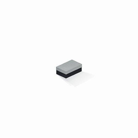 Caixa de presente | Retângulo F Card Cinza-Preto 5,0x8,0x3,5