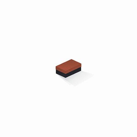 Caixa de presente | Retângulo F Card Scuro Laranja-Preto 5,0x8,0x3,5