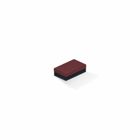 Caixa de presente   Retângulo F Card Scuro Vermelho-Preto 6,0x10,0x3,5