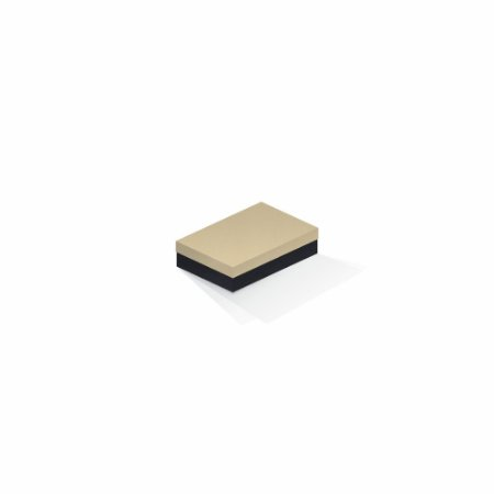 Caixa de presente | Retângulo F Card Areia-Preto 8,0x12,0x3,5