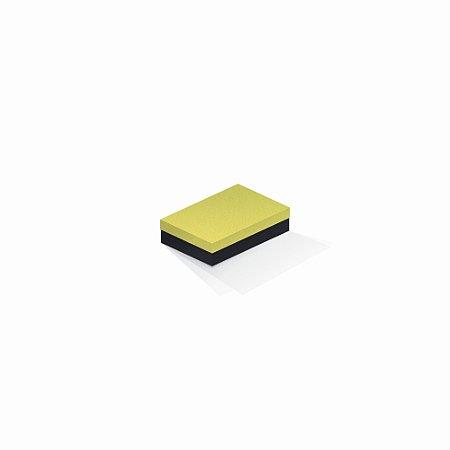 Caixa de presente   Retângulo F Card Canário-Preto 8,0x12,0x3,5