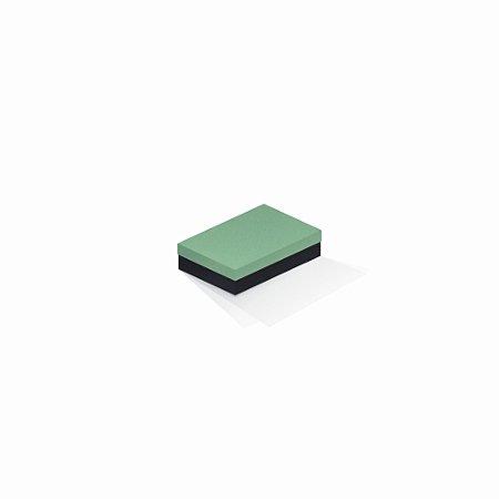 Caixa de presente | Retângulo F Card Verde-Preto 8,0x12,0x3,5