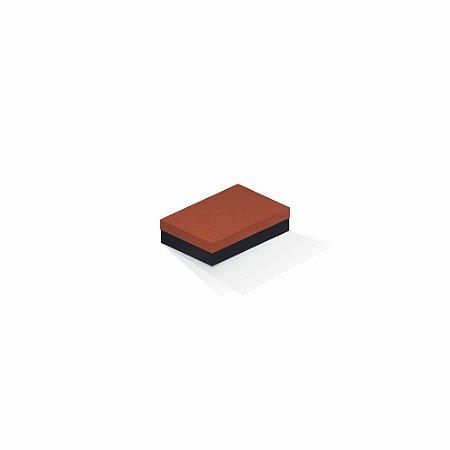 Caixa de presente   Retângulo F Card Scuro Laranja-Preto 8,0x12,0x3,5