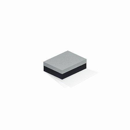Caixa de presente | Retângulo F Card Cinza-Preto 10,0x13,0x3,5
