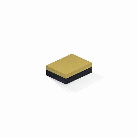 Caixa de presente | Retângulo F Card Ouro-Preto 10,0x13,0x3,5