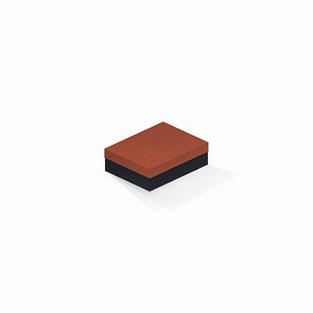 Caixa de presente   Retângulo F Card Scuro Laranja-Preto 10,0x13,0x3,5