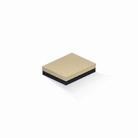 Caixa de presente | Retângulo F Card Areia-Preto 12,0x15,0x4,0