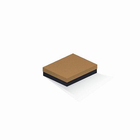 Caixa de presente   Retângulo F Card Ocre-Preto 12,0x15,0x4,0
