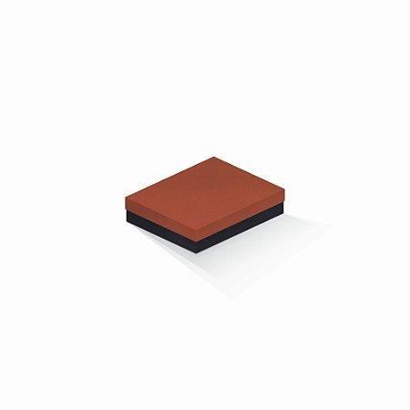 Caixa de presente | Retângulo F Card Scuro Laranja-Preto 12,0x15,0x4,0