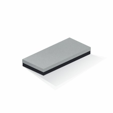 Caixa de presente | Retângulo F Card Cinza-Preto 13,0x29,0x4,0