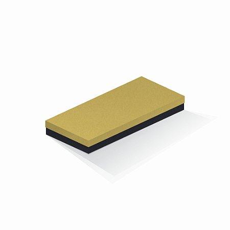 Caixa de presente   Retângulo F Card Ouro-Preto 13,0x29,0x4,0