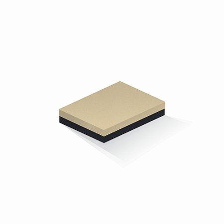 Caixa de presente | Retângulo F Card Areia-Preto 14,0x19,0x4,0