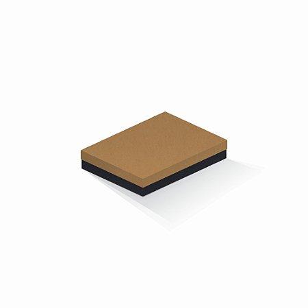 Caixa de presente   Retângulo F Card Ocre-Preto 14,0x19,0x4,0