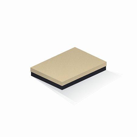 Caixa de presente   Retângulo F Card Areia-Preto 16,0x22,5x4,0