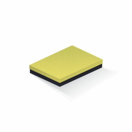 Caixa de presente   Retângulo F Card Canário-Preto 16,0x22,5x4,0