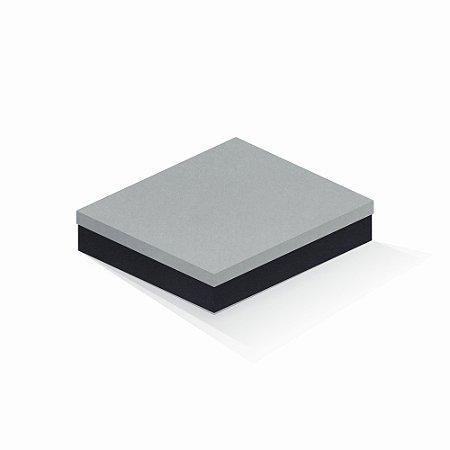 Caixa de presente | Retângulo F Card Cinza-Preto 21,5x27,5x5,0