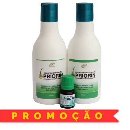 EXTRATO DE PRIORIN - KIT SHAMPOO/CONDICIONADOR/TÔNICO
