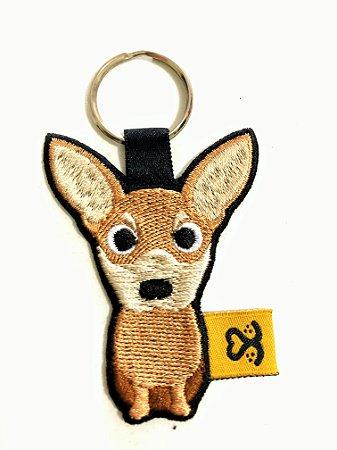 Chaveiro de bordado Chihuahua
