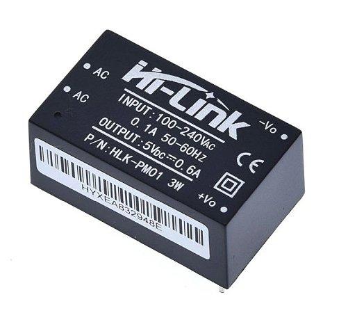 Fonte HLK-PM01 100-240VAC para 5VDC