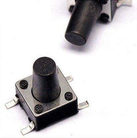 Botão Táctil 6X6X4.3mm - 4T - 180° - SMD