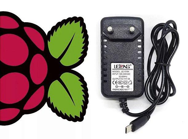 Fonte para Raspberry 5V - 3A