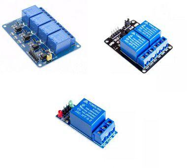 Módulo Relé - 1 Canal (5V ou 12V) / 2 Canais (5V) / 4 Canais (5V)