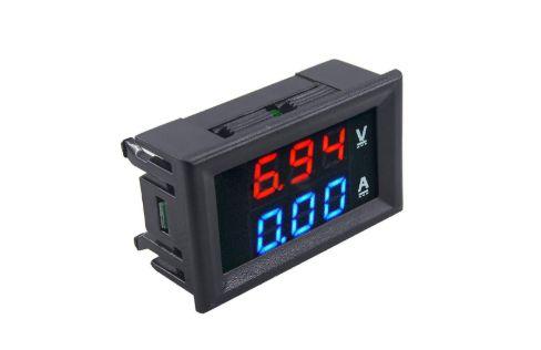 Voltímetro e Amperímetro Digital DC (100V-10A)