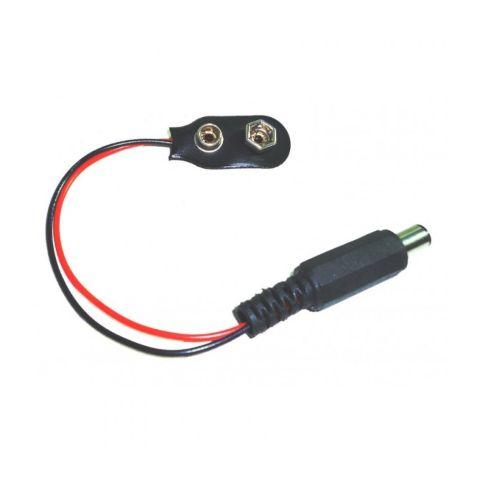 Conector Bateria 9V com Plug P4