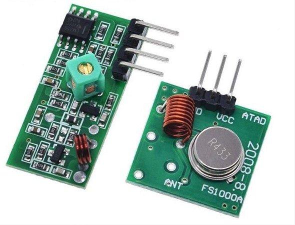 Módulo RF Transmissor + Receptor AM (315MHz ou 433MHz)