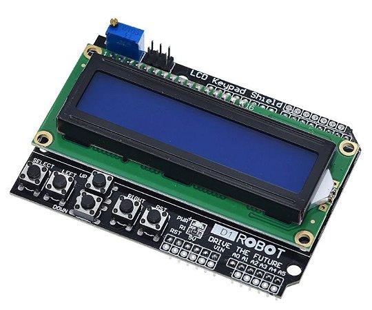 Display LCD 16x2 com Teclado
