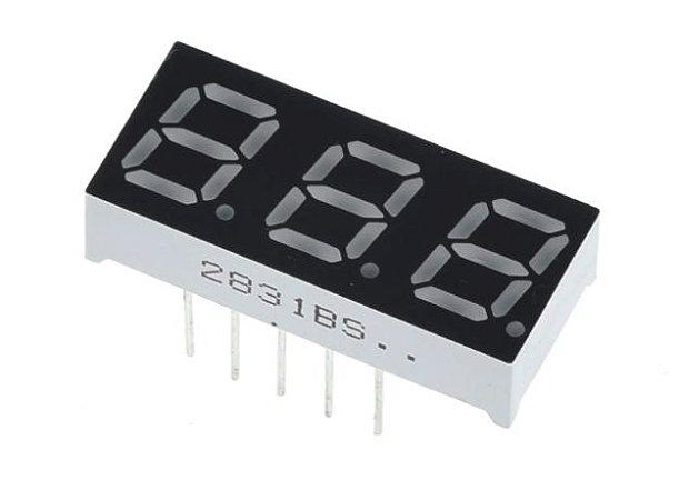 "Display 7 Segmentos 3 Dígitos - 0.36"""