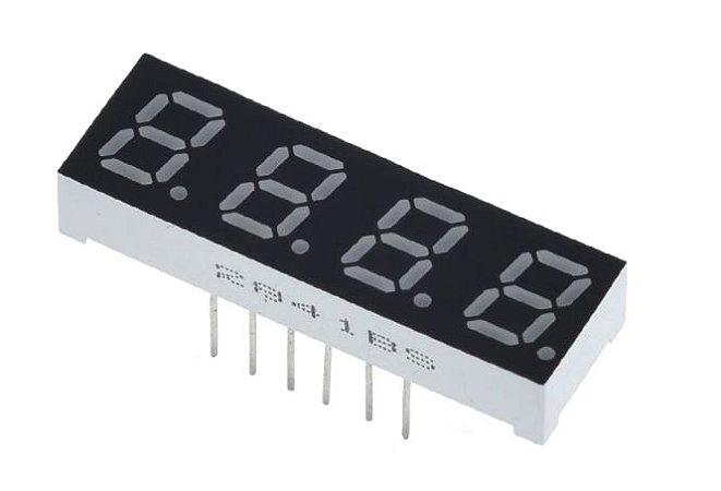 "Display 7 Segmentos 4 Dígitos - 0.28"""