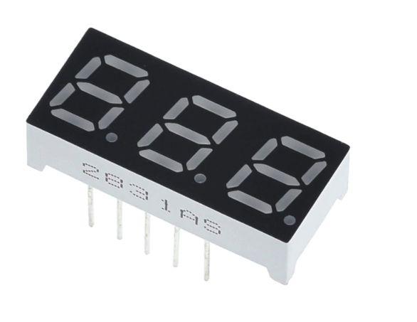 "Display 7 Segmentos 3 Dígitos - 0.56"""