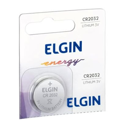 Bateria Elgin CR2032 Lithium 3V