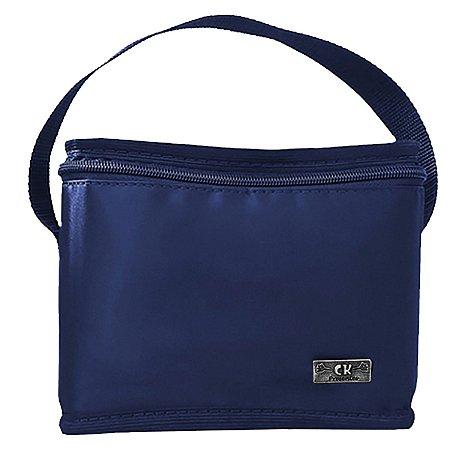 Bolsa Térmica Pequena Para Marmita Frasqueira Masculina Azul