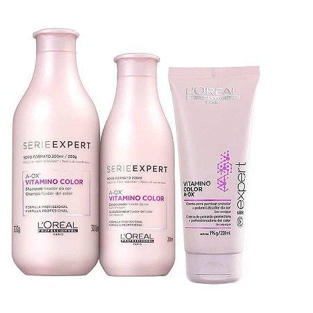 Kit Vitamino Color A-OX Loreal Profissional Shampoo + Condicionador + Leave-In