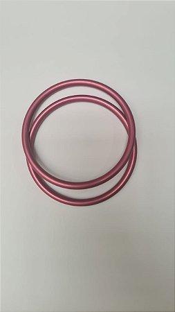 Argola avulsa de alumínio anodizado, cor Rosa Claro